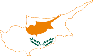 Flag map of Cyprus Logo Vector