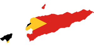 Flag map of East Timor Logo Vector