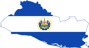 Flag map of El Salvador Logo Vector