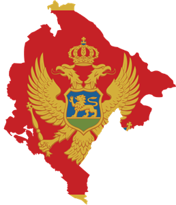 Flag map of Montenegro Logo Vector