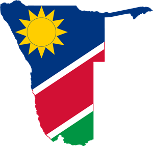 Flag map of Namibia Logo Vector
