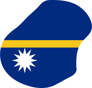 Flag map of Nauru Logo Vector