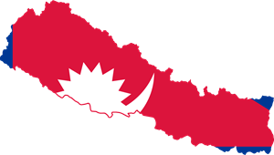 Flag map of Nepal Logo Vector