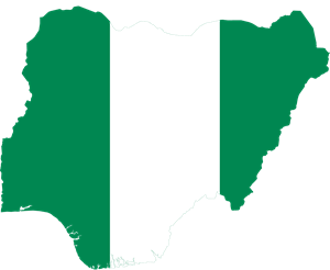 Flag map of Nigeria Logo Vector