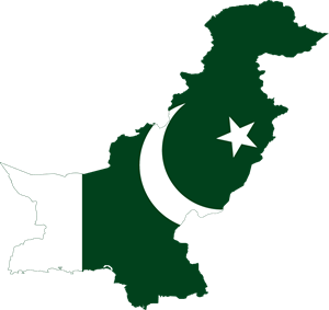 Flag map of Pakistan Logo Vector
