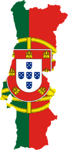 Flag map of Portugal Logo Vector