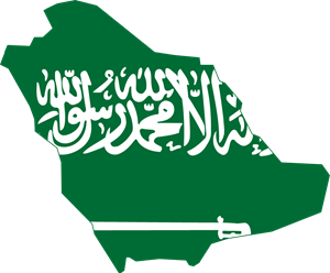 Flag map of Saudi Arabia Logo Vector