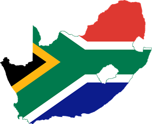 Flag map of South Africa Logo Vector