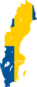 Flag map of Sweden Logo Vector