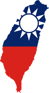 Flag map of Taiwan Logo Vector