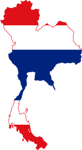Flag map of Thailand Logo Vector (.EPS) Free Download