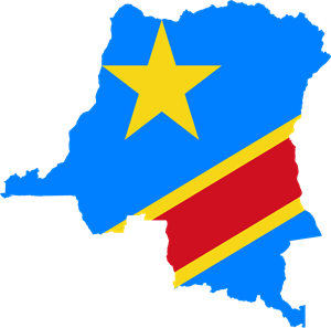 Flag map of the Democratic Republic of the Congo Logo Vector