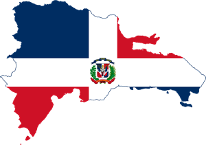 Flag map of the Dominican Republic Logo Vector