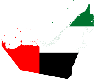 Flag map of the United Arab Emirates Logo Vector