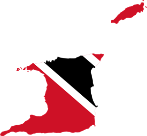 Flag map of Trinidad and Tobago Logo Vector