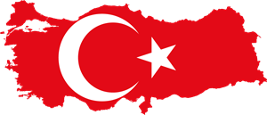 Flag map of Turkey Logo Vector