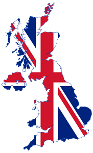 Flag map of United Kingdom Logo Vector