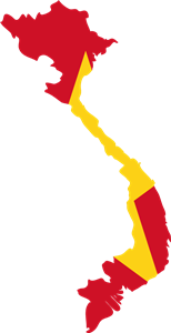 Flag map of Vietnam Logo Vector