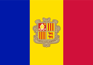Flag of Andorra Logo Vector