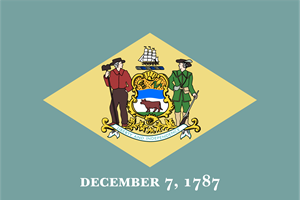 FLAG OF DELAWARE Logo Vector