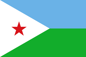 Flag of Djibouti Logo Vector