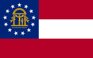 FLAG OF GEORGIA US Logo Vector
