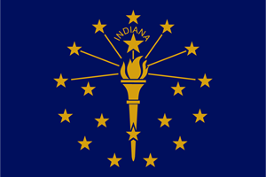 FLAG OF INDIANA Logo Vector