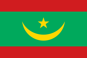 Flag of Mauritania Logo Vector