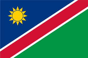 Flag of Namibia Logo Vector