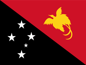 Flag of Papua New Guinea Logo Vector