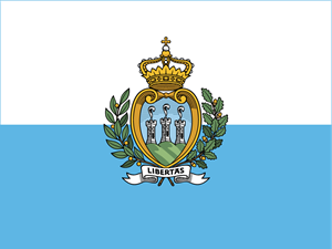 Flag of San Marino Logo Vector