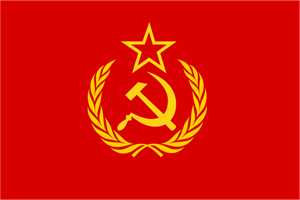 Flag of the new USSR Logo Vector