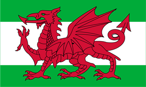 Flag of Wales Logo Vector