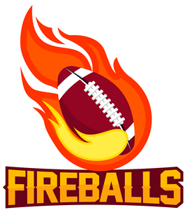 Flame with football Logo Vector