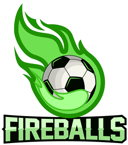 Flame with soccer Logo Vector