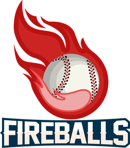 Flame with softball Logo Vector