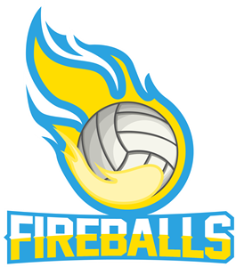 Flame with volleyball Logo Vector