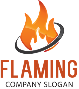 Flaming Logo Vector