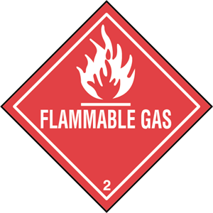 FLAMMABLE GAS Logo Vector