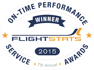FlightStats On-time Performance Service Awards Logo Vector