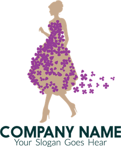 flower dress tailor Logo Vector