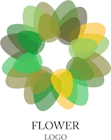 Flower Green Leaf Art Logo Vector