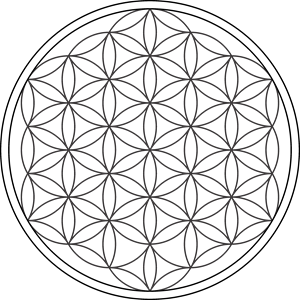 Flower of Life Logo Vector