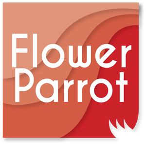 Flower Parrot Logo Vector
