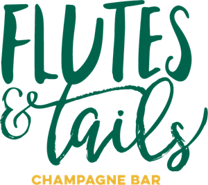 Flutes and Tails Champagne Bar Logo Vector