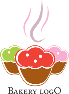 Food Cake Logo Vector