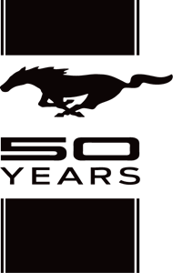 Ford Mustang 50 Years Logo Vector