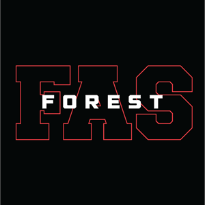 Forest Avenue School Spirit Wear Performance Tee Logo Vector