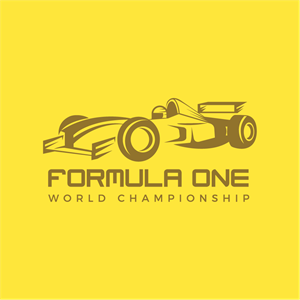 Formula 1 Racing car Logo Vector