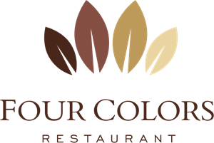Four Colors Restaurant Logo Vector